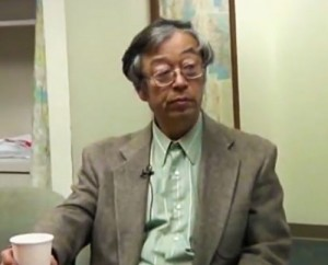 Still from video of Dorian Nakamoto being interviewed by AP.