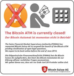 The Bitcoin Suisse announcement, via Facebook.