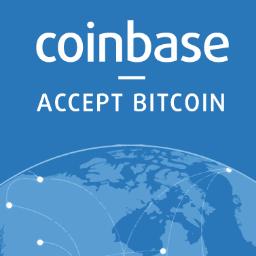 Coinbase logo.